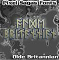 Illustration of font Olde Britannian
