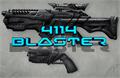 Illustration of font 4114 Blaster