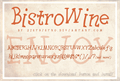 Illustration of font BistroWine