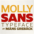 Illustration of font Molly Sans