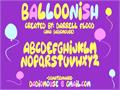 Illustration of font Balloonish