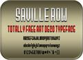 Illustration of font Saville Row NBP