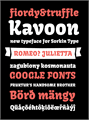 Illustration of font Kavoon