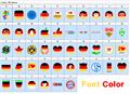 Illustration of font Font Color Germany
