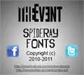 Illustration of font The Event