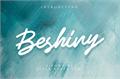 Illustration of font Beshiny