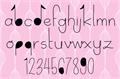 Illustration of font Delicate