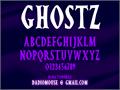 Illustration of font Ghostz