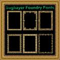 Illustration of font Vintage Frames_21