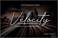Illustration of font Velocity - DEMO