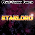 Illustration of font Starlord