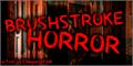 Illustration of font Brushstroke Horror
