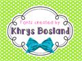 Illustration of font KBPinkLipgloss