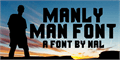 Illustration of font Manly Man Font