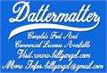 Illustration of font Dattermatter Personal Use