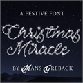 Illustration of font Christmas Miracle PERSONAL USE