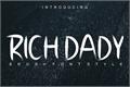 Illustration of font RICH DADY