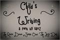 Illustration of font child writing
