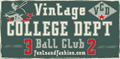 Illustration of font VINTAGE COLLEGE DEPT_DEMO_outli