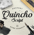 Illustration of font Quincho Script PERSONAL USE