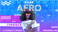 Illustration of font Zilap Afro