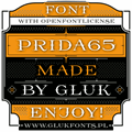 Illustration of font Prida65