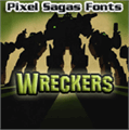 Illustration of font Wreckers