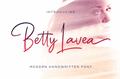 Illustration of font Betty Lavea