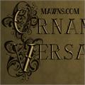 Illustration of font Ornamental Versals