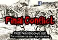 Illustration of font CF Final Conflict