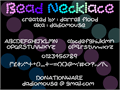 Illustration of font Bead Necklace