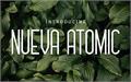 Illustration of font Nueva Atomio