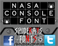 Illustration of font NASA CONSOLE