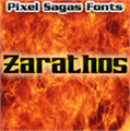 Illustration of font Zarathos
