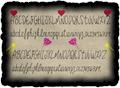 Illustration of font JessFont