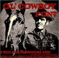 Illustration of font Ol' Cowboy