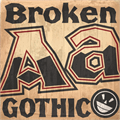 Illustration of font  Broken Gothic NC
