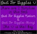 Illustration of font Just For Giggles