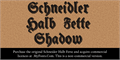 Illustration of font Schneidler Halb Fette Shadow