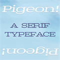 Illustration of font Pigeon PERSONAL