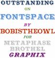 Illustration of font Outstanding