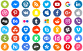Illustration of font Social Networks Color