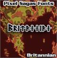 Illustration of font Britannian