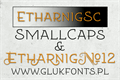 Illustration of font Etharnig