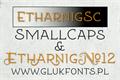 Illustration of font Etharnig