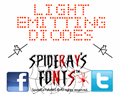 Illustration of font LIGHT EMITTING DIODES