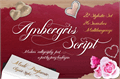 Illustration of font Ambergris Script Free Personal