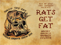Illustration of font Rats Get Fat