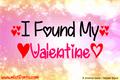 Illustration of font I Found My Valentine