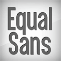 Illustration of font Equal Sans Demo